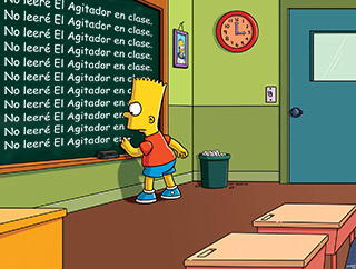 Bart Simpson lee El Agitador