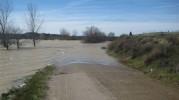 Jueves 5 de marzo: algunas imágenes del nivel máximo del Ebro en Caspe