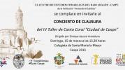 """Concierto de clausura del IV Taller de Canto Coral """"Ciudad de Caspe"""""""