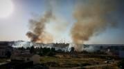 Aparatoso incendio en Caspe
