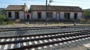 Bombardeo en la estación de Nonaspe