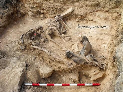 Figura 18. Vista desde el sureste tras finalizar la excavación de los soldados nº 1 y 2.