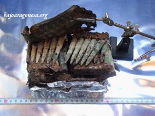 Figura 24. Peines con cartuchos dentro de una de las cartucheras del Soldado 3.